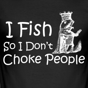 FISKE I DONTCHOKE - Slim Fit T-skjorte for menn