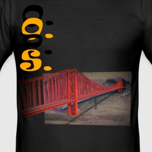 golden gate - Männer Slim Fit T-Shirt