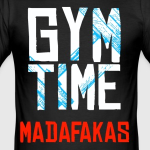 GYM Time - MADAFAKAS - Slim Fit T-shirt herr