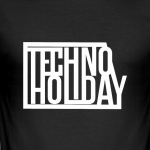 Techno Holiday - Herre Slim Fit T-Shirt