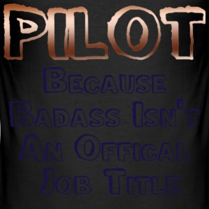 Badass Pilot - Men's Slim Fit T-Shirt
