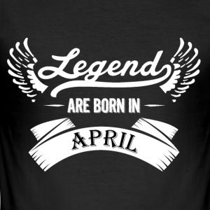 Legends are born in April - Men's Slim Fit T-Shirt
