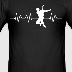 Heartbeat guitarist - Men's Slim Fit T-Shirt