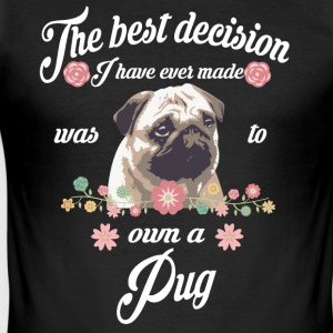 Pug - Männer Slim Fit T-Shirt