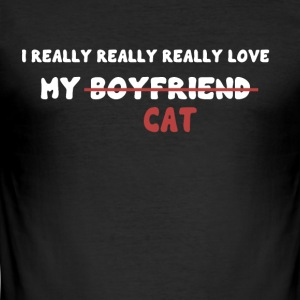 I love my cat - Men's Slim Fit T-Shirt