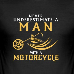 I love Motorcycles - Männer Slim Fit T-Shirt
