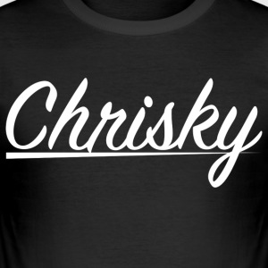 Chrisky vit utan reklam - Slim Fit T-shirt herr