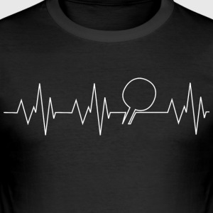 Heartbeat tafeltennis - slim fit T-shirt