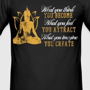 Yoga T-shirt slogan - Herre Slim Fit T-Shirt