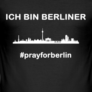 pray for Berlin - Men's Slim Fit T-Shirt