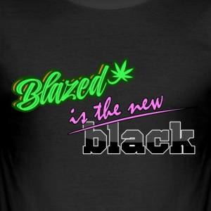 Blazed er det nye svart - Slim Fit T-skjorte for menn