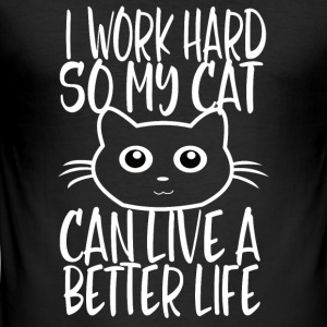 CAT HARD WORK - Tee shirt près du corps Homme