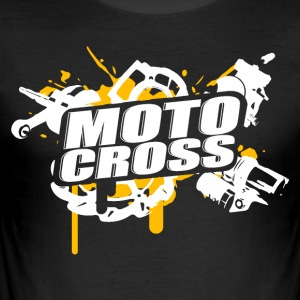 Motocross Supermoto Enduro Vol.I o / w - Slim Fit T-skjorte for menn