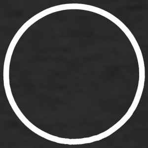 Minimalist Solar Eclipse (Mr) - Men's Slim Fit T-Shirt