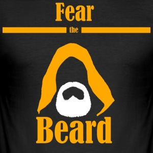 Fear the beard wars star jedi yedi bart kapuze - Männer Slim Fit T-Shirt