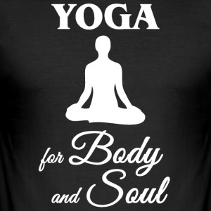 Yoga for kropp og sjel - Slim Fit T-skjorte for menn
