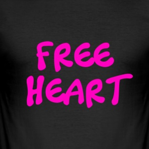 FREE HEART PINK - Tee shirt près du corps Homme