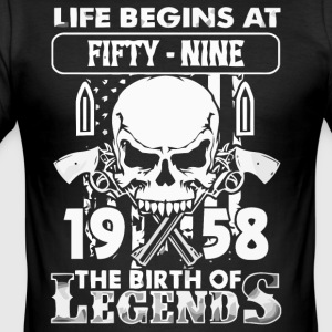 1958 The birth of Legends shirt - Men's Slim Fit T-Shirt