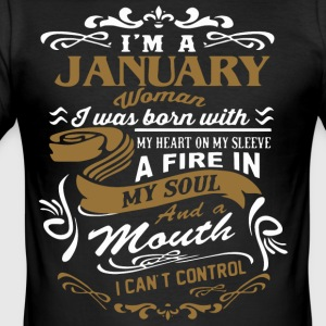 I'm a January woman shirt - Men's Slim Fit T-Shirt