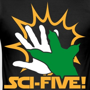 Sci Five - Y (hell) - Männer Slim Fit T-Shirt