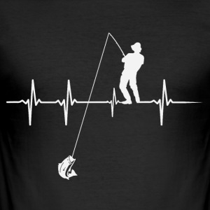 Heartbeat Angler - Men's Slim Fit T-Shirt