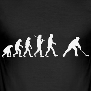 hockey evolusjon - Slim Fit T-skjorte for menn