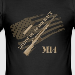 M14 RIFLE - Men's Slim Fit T-Shirt