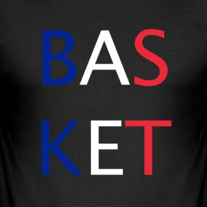 BASKETBOLL - Slim Fit T-shirt herr