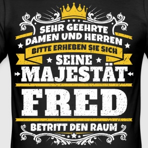 Hans Majestæt Fred - Herre Slim Fit T-Shirt