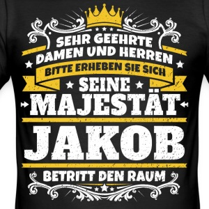 His Majesty Jacob - Men's Slim Fit T-Shirt
