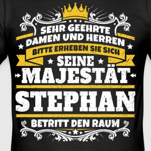 Seine Majestät Stephan - Männer Slim Fit T-Shirt