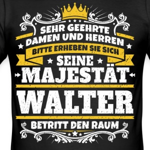 His Majesty Walter - Men's Slim Fit T-Shirt