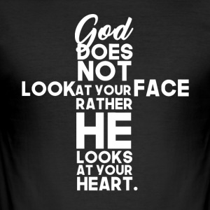 God Looks At Your Heart - Men's Slim Fit T-Shirt