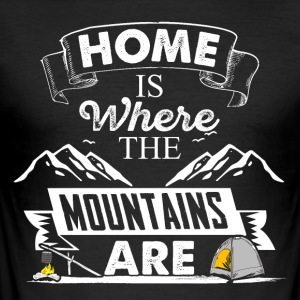 Mountains my home - Men's Slim Fit T-Shirt