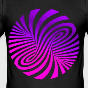 psychedelic illusion Disco 60er tornado - Männer Slim Fit T-Shirt
