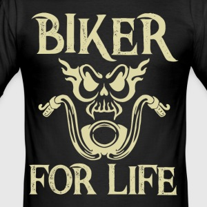 Biker for livet - Herre Slim Fit T-Shirt