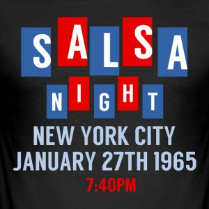 Salsa Night New York - Danse skjorter - Slim Fit T-skjorte for menn