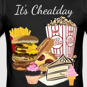 Cheatday - Slim Fit T-shirt herr