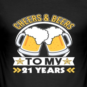 21st Birthday Beers - Men's Slim Fit T-Shirt