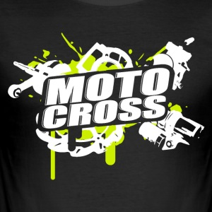 Motocross Supermoto Enduro Vol.I g / w - Herre Slim Fit T-Shirt