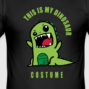 dinosaure dino costume carnaval carnaval fun humo - Tee shirt près du corps Homme