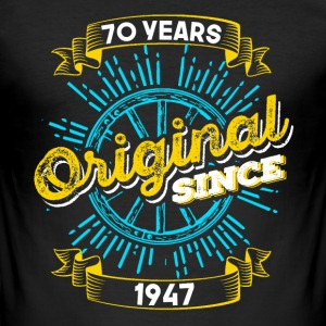70 Birthday in 1947 - Men's Slim Fit T-Shirt
