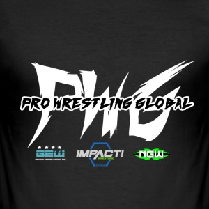 PWG Pro Wrestling Globalt - Slim Fit T-skjorte for menn
