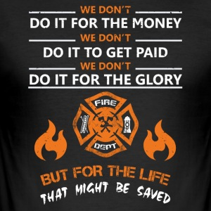 Lifeguard firefighter rescue service - Men's Slim Fit T-Shirt