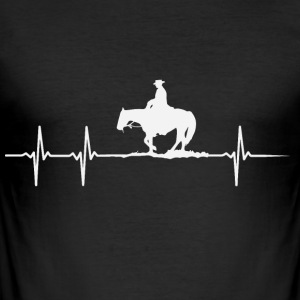 Heartbeat of a horse lover - Men's Slim Fit T-Shirt