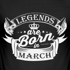Legends are born in March - Men's Slim Fit T-Shirt