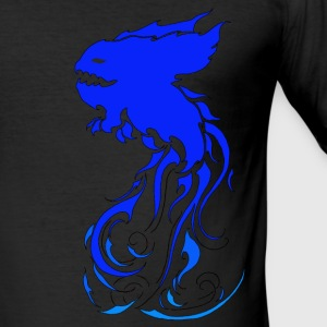 Blue Kromysflame - Slim Fit T-shirt herr