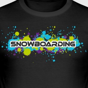 snowboard - Slim Fit T-skjorte for menn