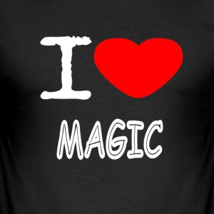 I LOVE MAGIC - Men's Slim Fit T-Shirt