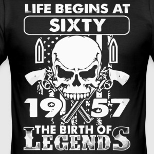 1957 The birth of Legends shirt - Men's Slim Fit T-Shirt